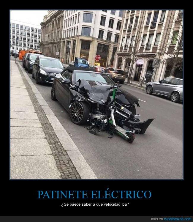 accidente,coche,patinete eléctrico,wtf
