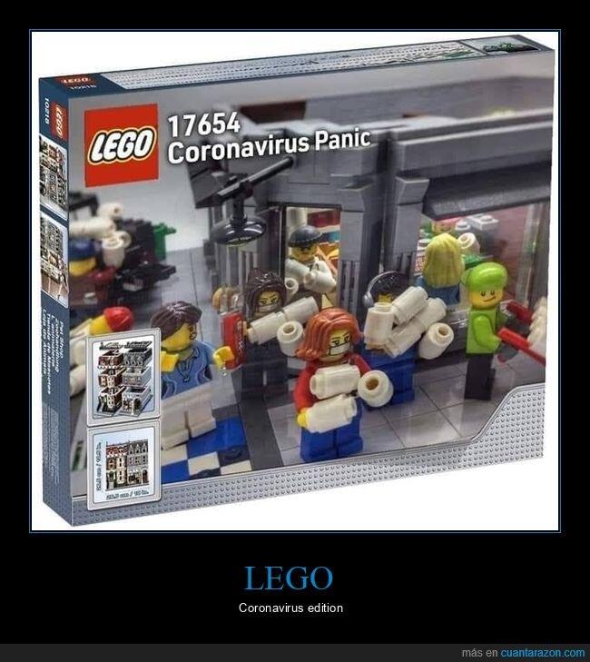 compras,coronavirus,lego,papel higiénico