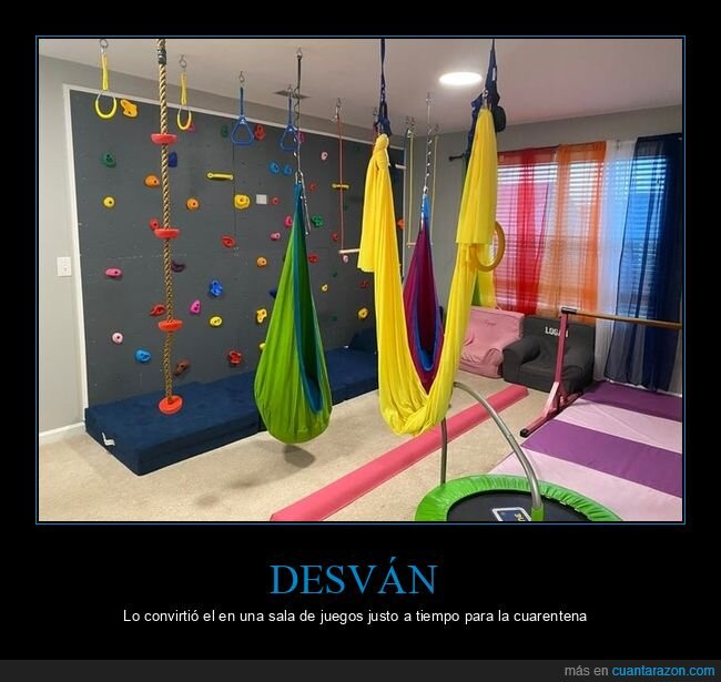 desván,sala de juegos cuarentena