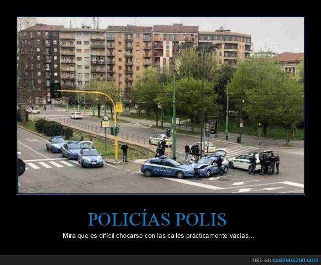 accidente,coches,coronavirus,cuarentena,fails,policía