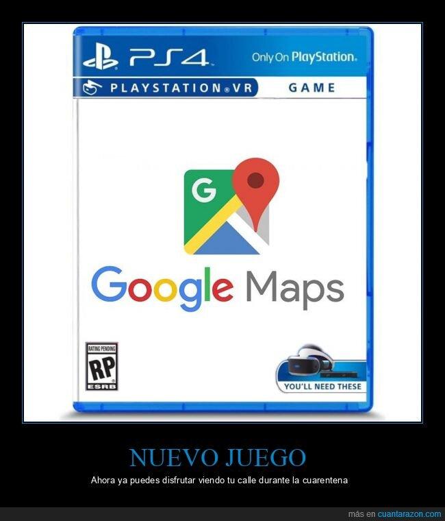 coronavirus,cuarentena,google maps,videojuego