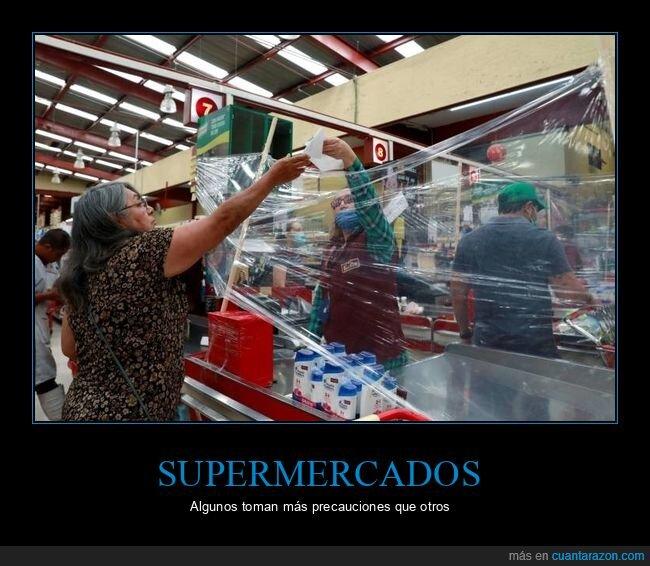 coronavirus,protección,supermercado