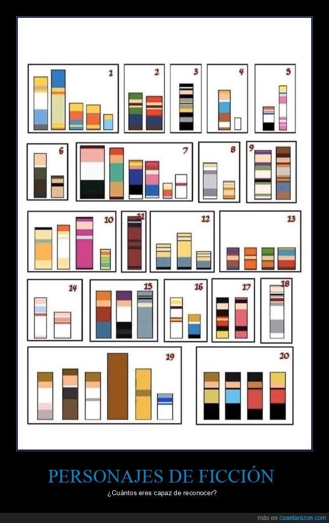 colores,personajes,series