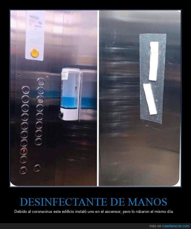 ascensor,coronavirus,desinfectante,robo