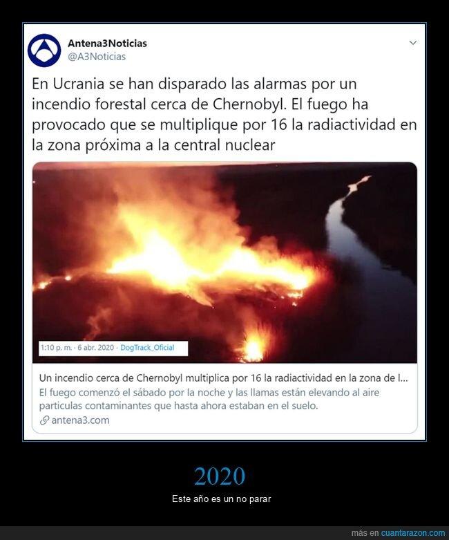 2020,chernobyl,incendio,radiactividad