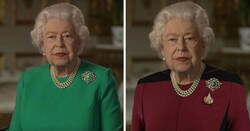 Enlace a La Reina de Inglaterra dio un discurso vestida de verde y la gente sacó el Photoshop a relucir