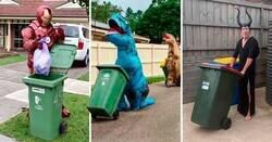Enlace a La gente en Australia se disfraza para sacar la basura y hacen la cuarentena divertida