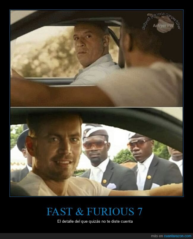 fast and furious,negros del ataúd,paul walker