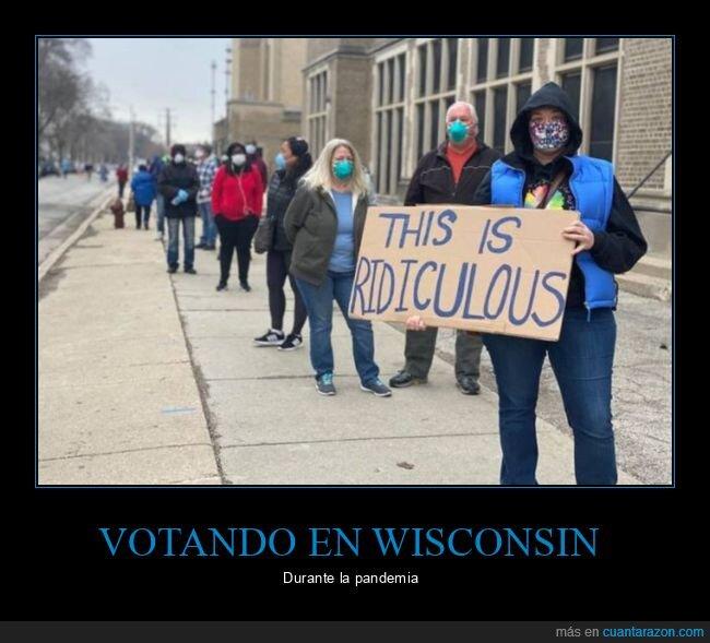 coronavirus,pandemia,votando,wisconsin