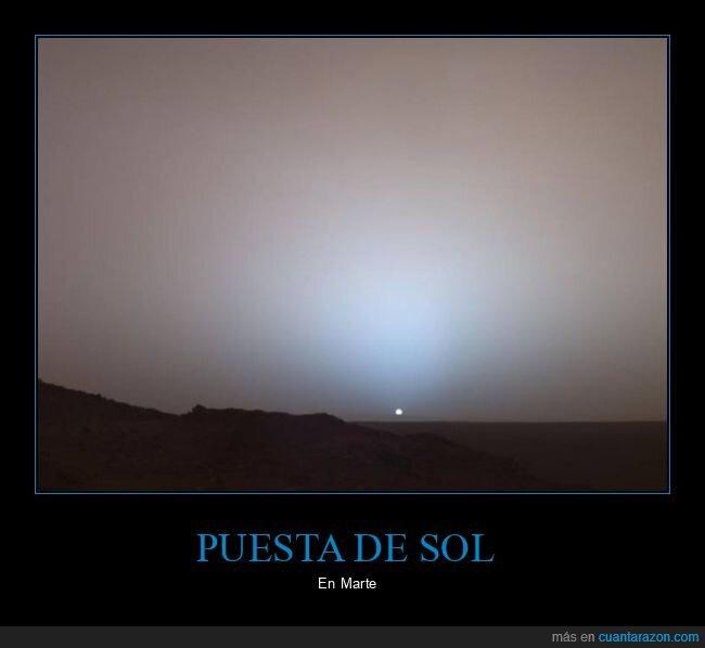 marte,puesta de sol,sol