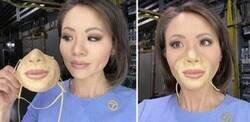 Enlace a Personas que se fabricaron máscaras geniales para combatir el virus