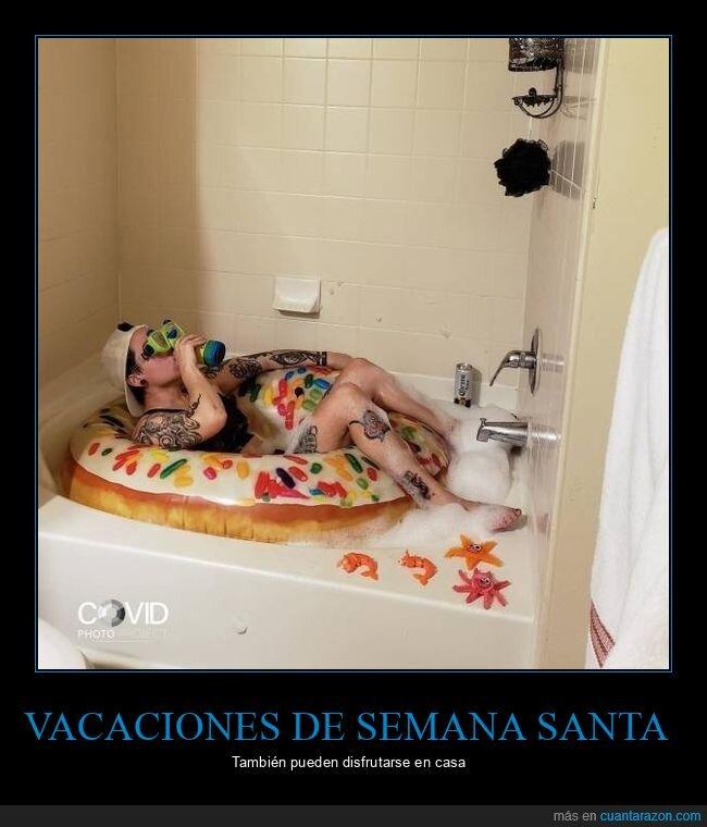 bañera,coronavirus,cuarentena