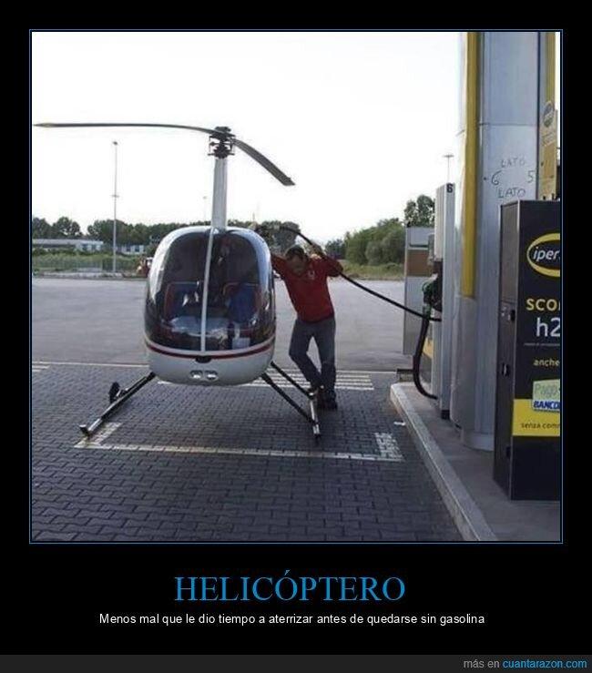 gasolina,gasolinera,helicóptero,repostando,wtf