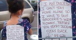 Enlace a Padres solteros se identifican con las quejas de esta madre sobre quienes la juzgan por llevarse a su hija a hacer la compra