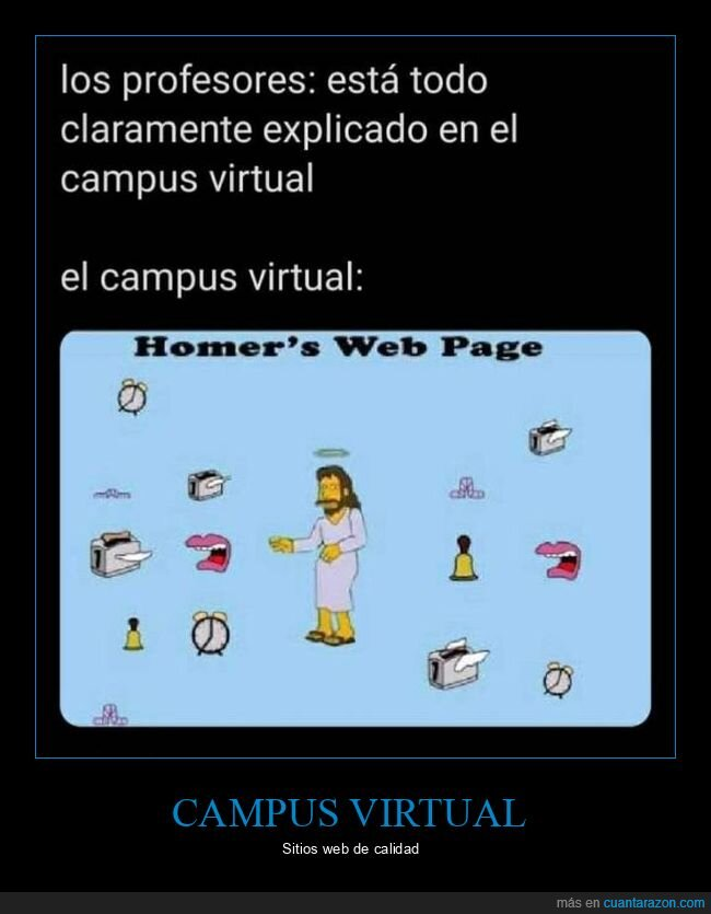 campus virtual,coronavirus,cuarentena,profesores,web de homer