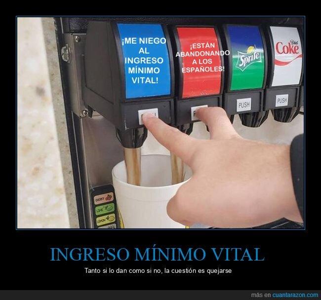 abandonar,botones,españoles,ingreso mínimo vital