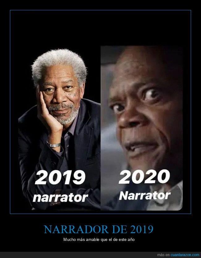 2019,2020,coronavirus,morgan freeman,narrador,samuel l jackson