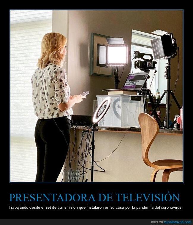 casa,coronavirus,cuarentena,presentadora,televisión