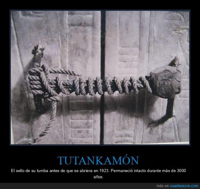 curiosidades,sello,tumba,tutankamón