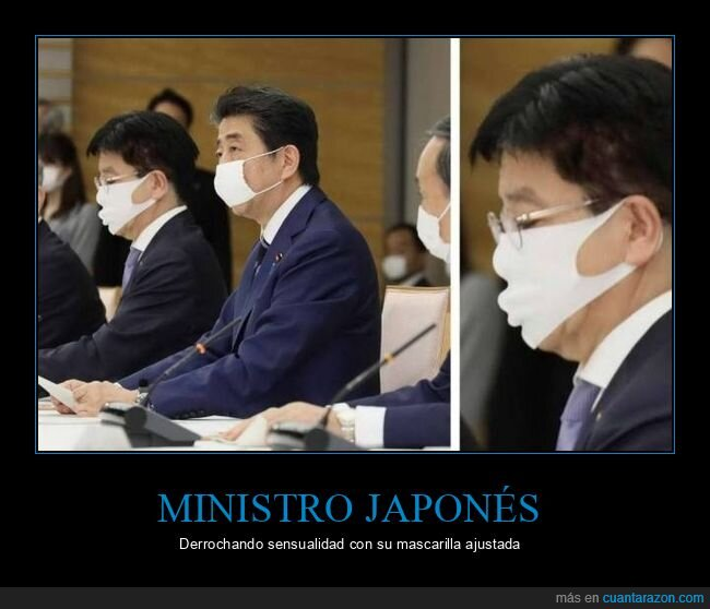 ajustada,japo,javascript,mascarilla,ministro,políticos,wtf