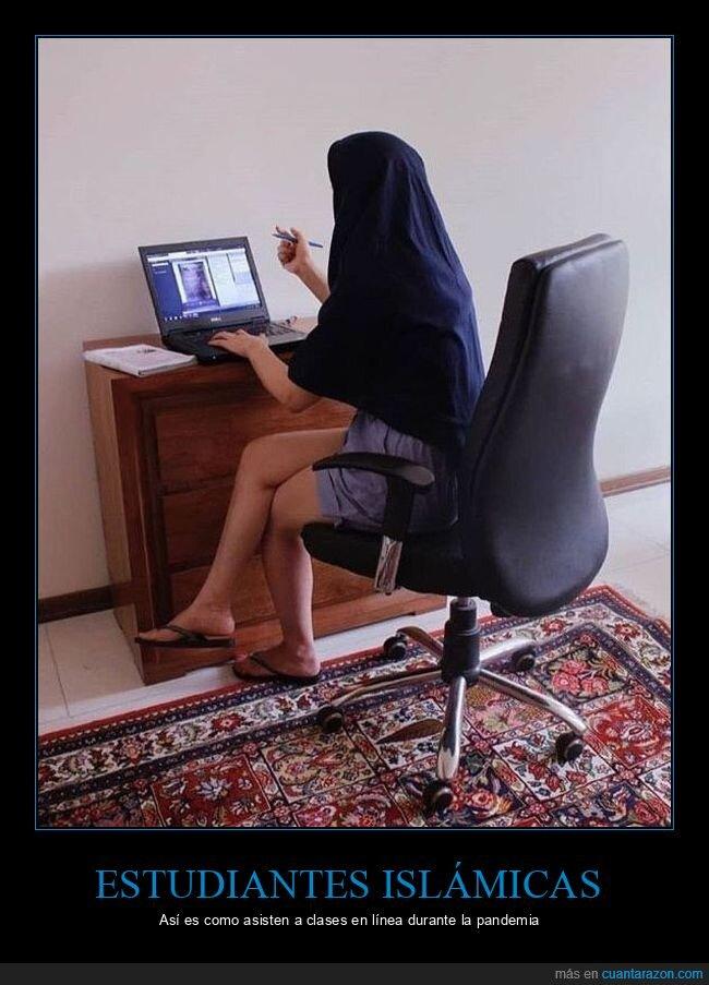 clases online,coronavirus,estudiante,islam