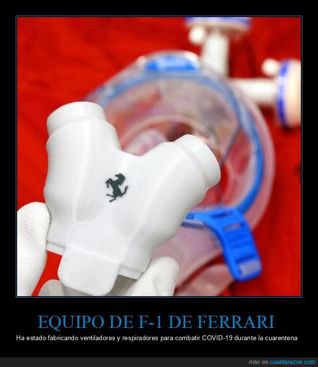 coronavirus,ferrari,fórmula 1,respiradores,ventiladores