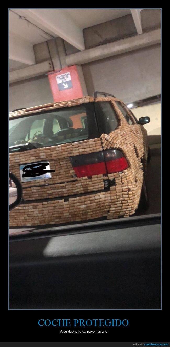 coche,corchos,protección,rayar