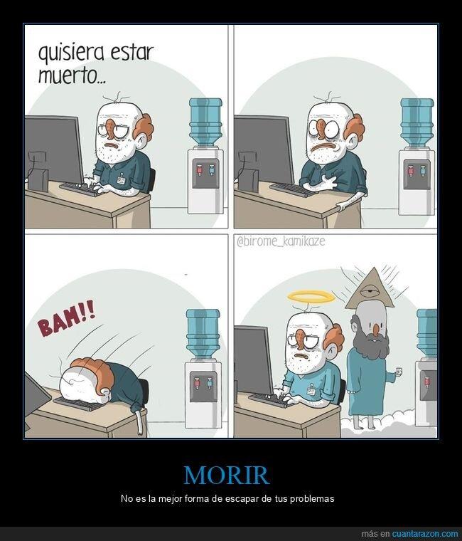 muerto,oficina