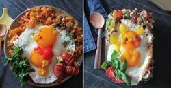 Enlace a Una madre convierte sus platos con huevos fritos en arte para sus hijas