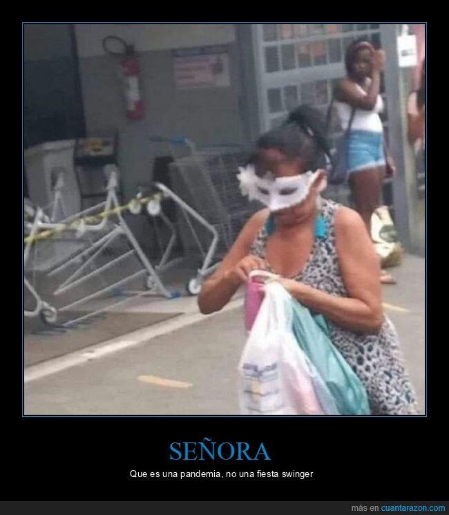 coronavirus,fiesta swinger,máscara,mascarilla,pandemia,wtf