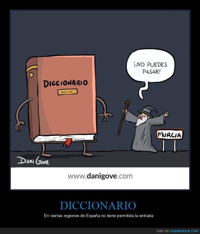 diccionario,el señor de los anillos,gandalf,murcia
