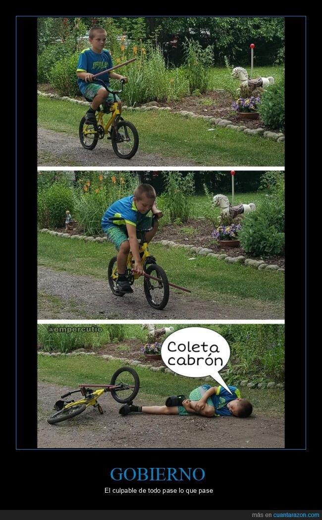 bicicleta,coronavirus,gobierno,pablo iglesias,palo