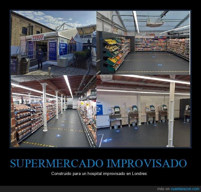 coronavirus,hospital,improvisado,supermercado