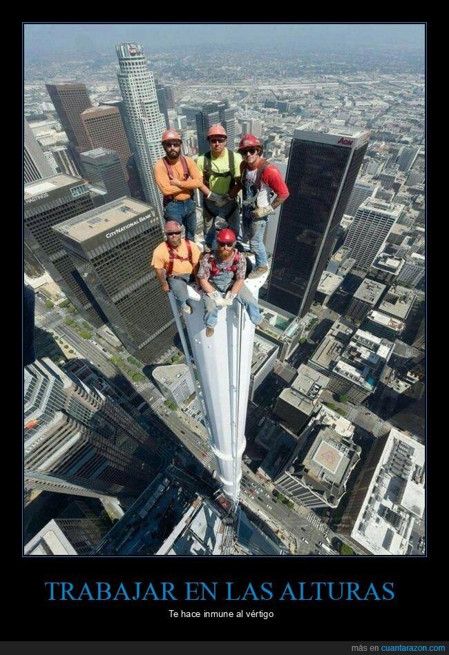 alturas,trabajadores,vértigo