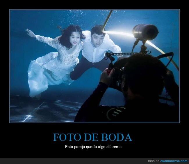 bajo el agua,boda,foto,pareja