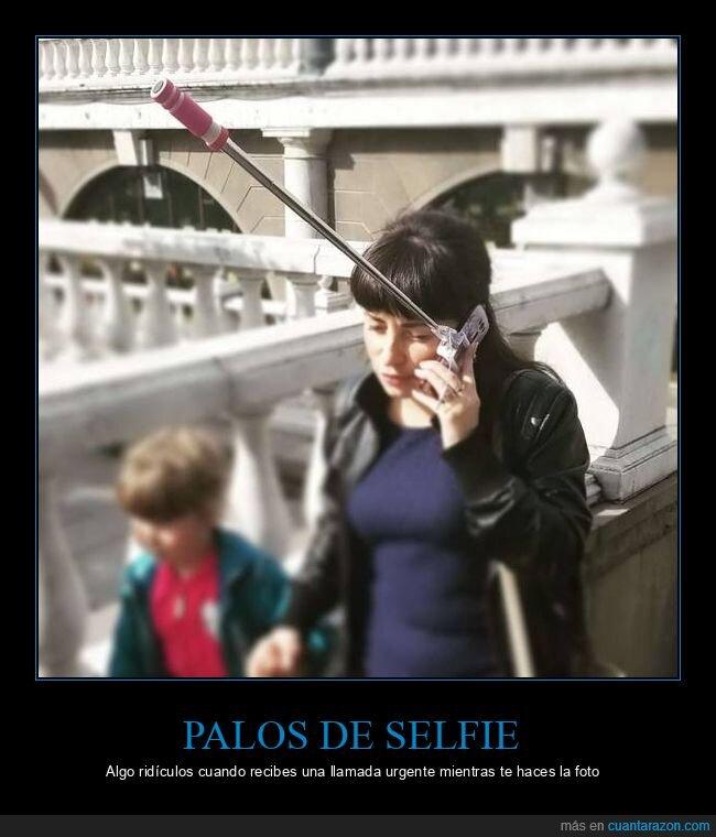 llamada,móvil,palo de selfie