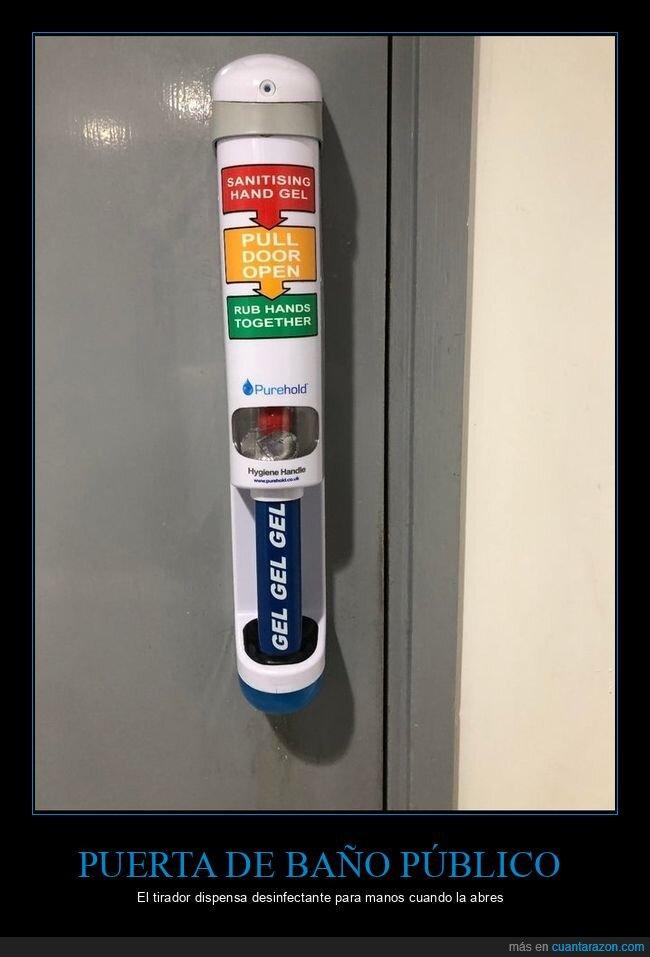 coronavirus,desinfectante,puerta