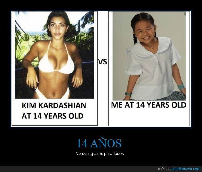 14 años,kim kardashian