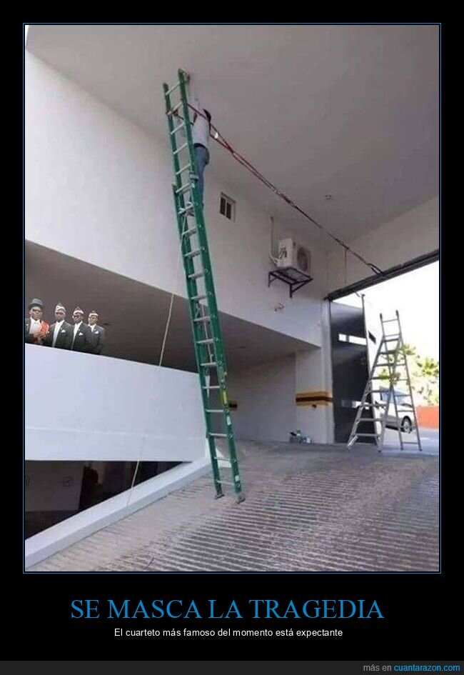 escalera,negros del ataúd,seguridad