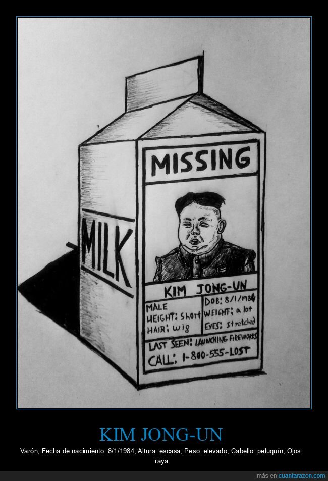 desaparición,kim jong un,leche