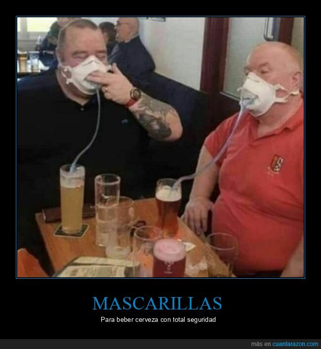 cerveza,coronavirus,mascarillas