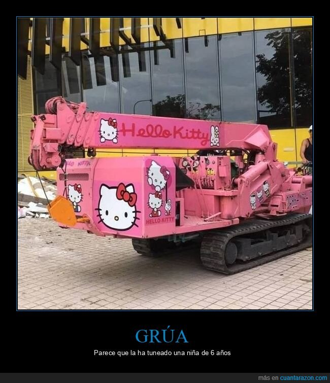grúa,hello kitty,wtf