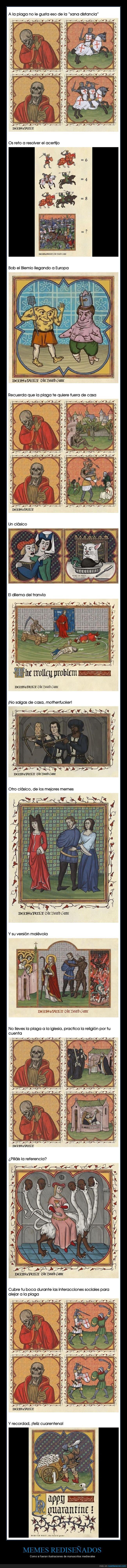 coronavirus,cuarentena,edad media,medievales,memes