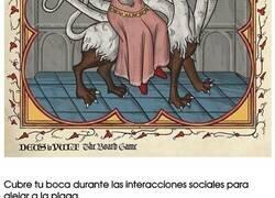 Enlace a Memes que fueron rediseñados como si fueran ilustraciones de manuscritos medievales
