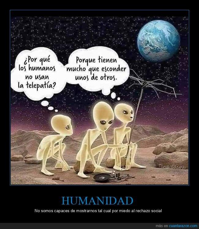 esconder,humanos,telepatía