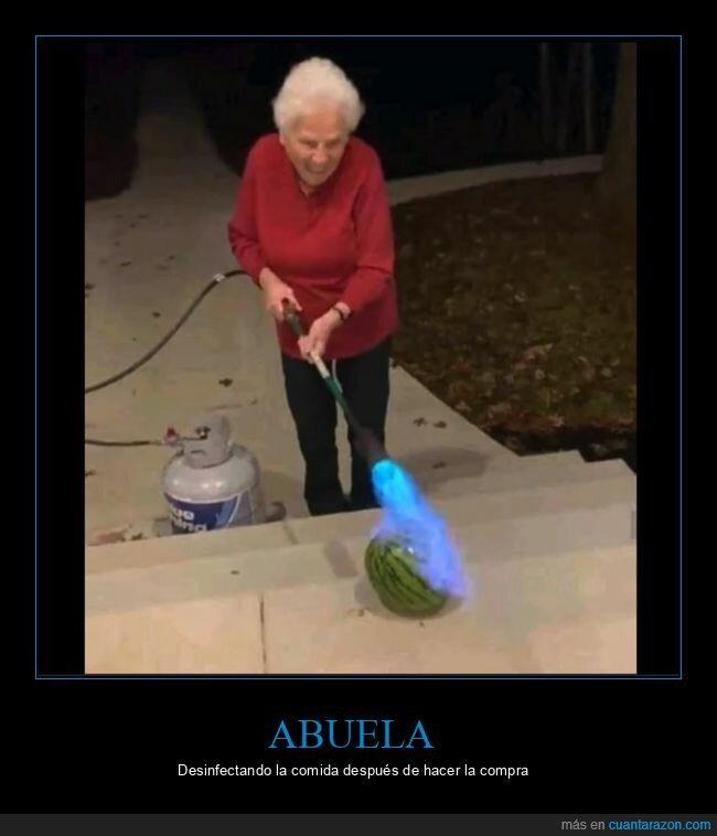 abuela,sandía,soplete,wtf