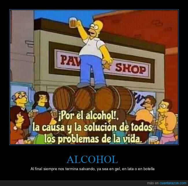 alcohol,botella,gel,lata,salvando,simpsons