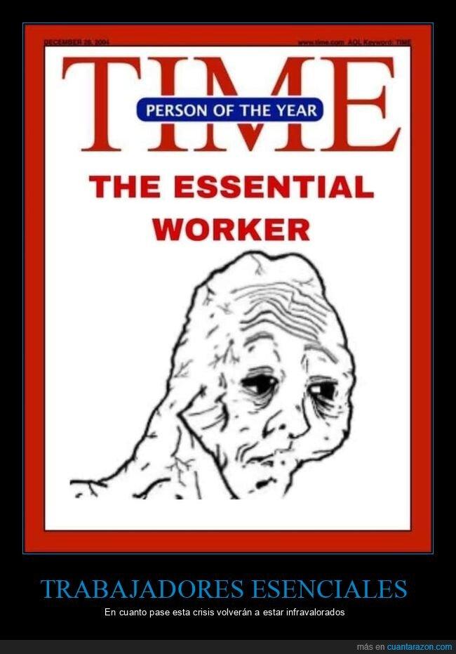 hombre del año,time,trabajador esencial
