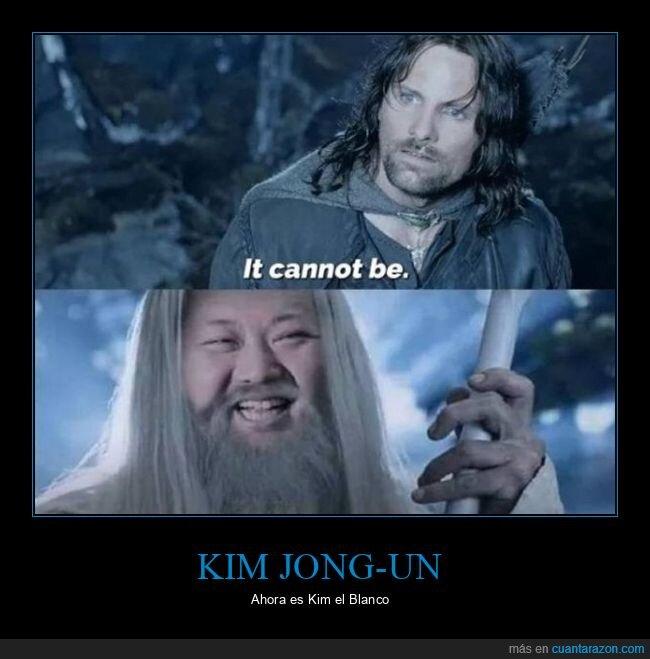 el señor de los anillos,gandalf,kim jong un