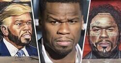 Enlace a Artista urbano trolea a 50 Cent con enormes murales